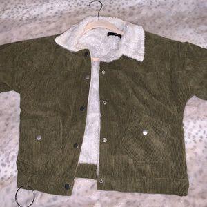 ZAFUL Green Corduroy Jacket